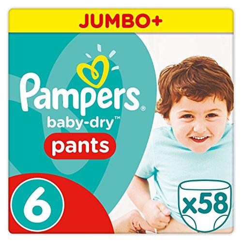 8dc2b4fbef Pampers Baby Dry Pants Windeln, Gr. 6 ab 15 kg, Jumbo Plus, 1er Pack 1 x 58  Stück