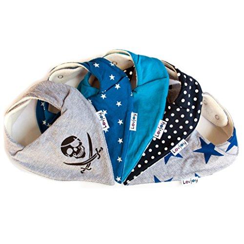 babystar packung mit 5 nikkis baby sabber l tzchen 100 saugf hige und weiche jersey. Black Bedroom Furniture Sets. Home Design Ideas