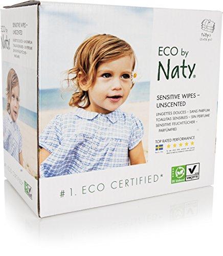 Naty Öko Feuchttücher Unparfümiert, 3er Pack 3 x 56 Stück